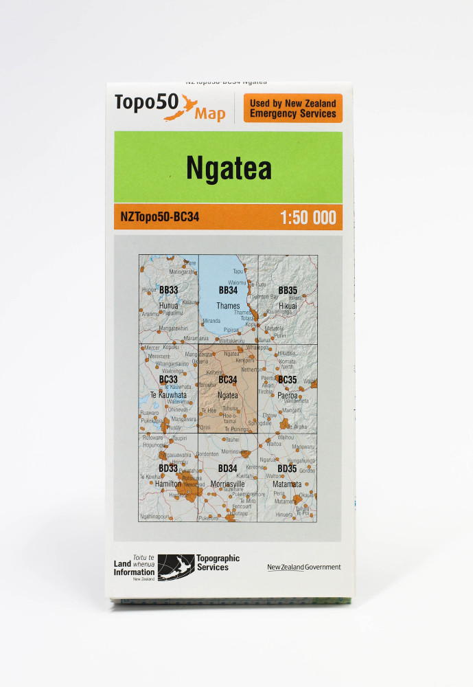Land information NZ Topo 50-BC34 Ngatea