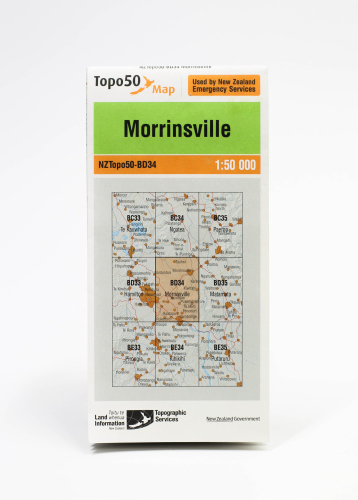 Land information NZ Topo 50-BD34 Morrinsville