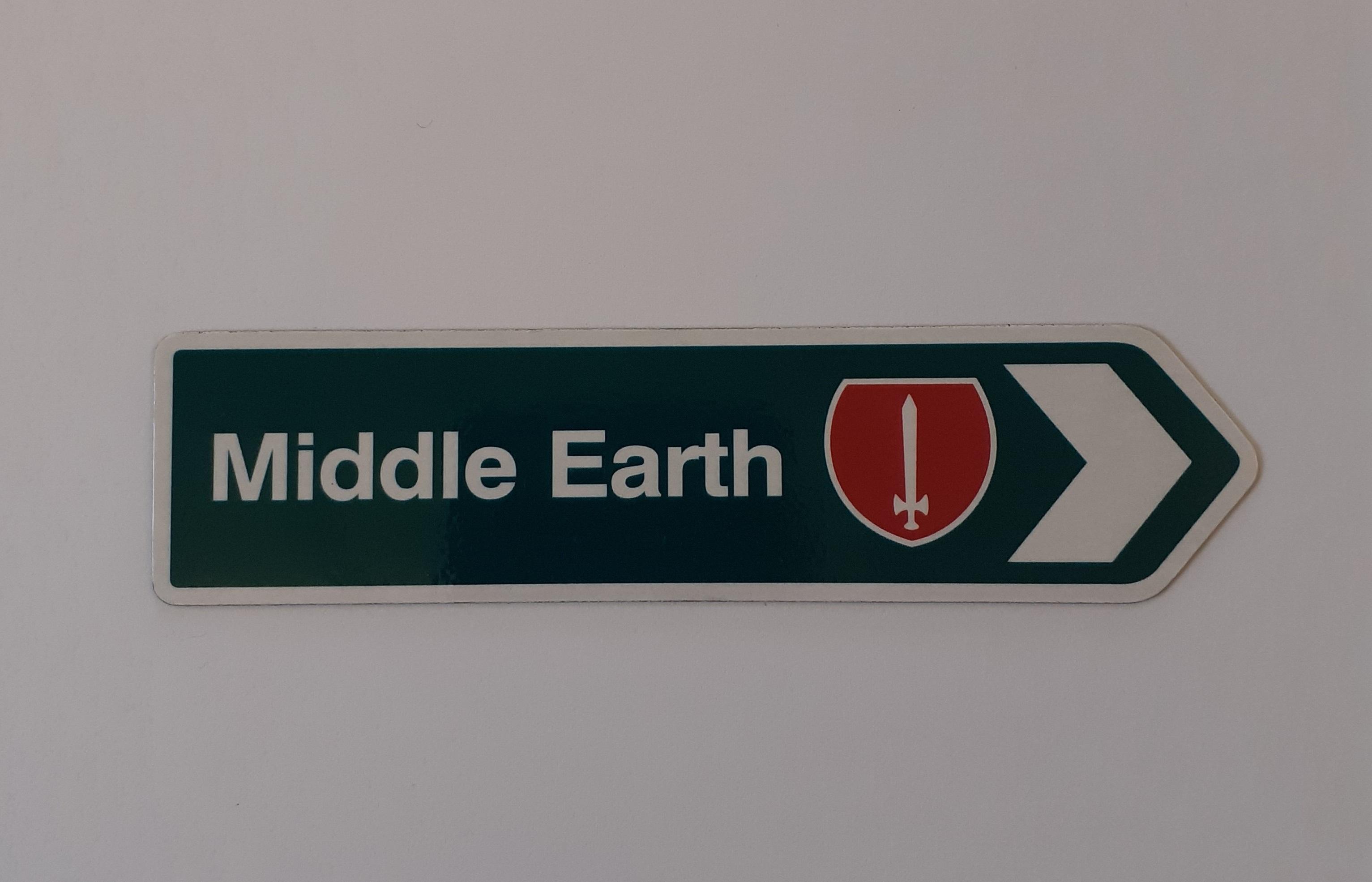 Fridge magnet - Middle Earth