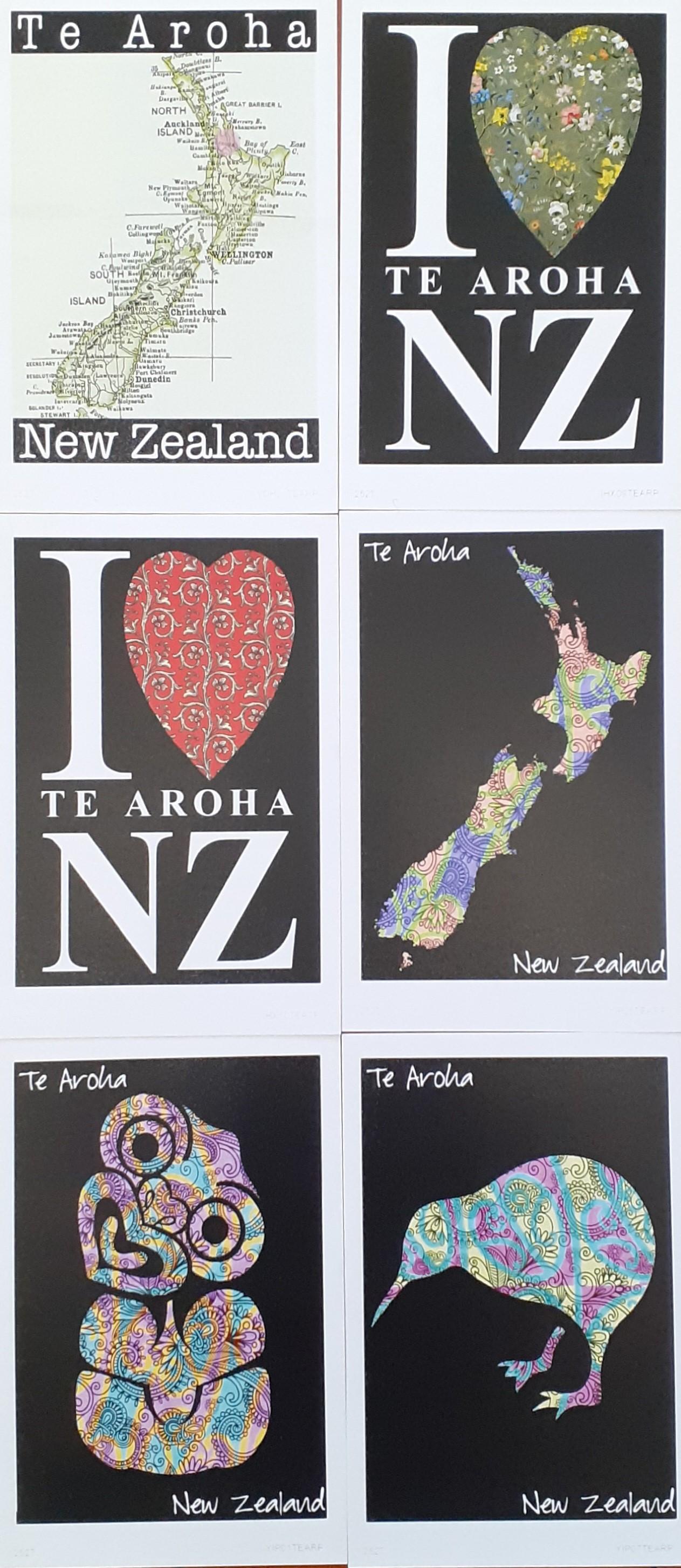 Te Aroha Postcard Pack 6
