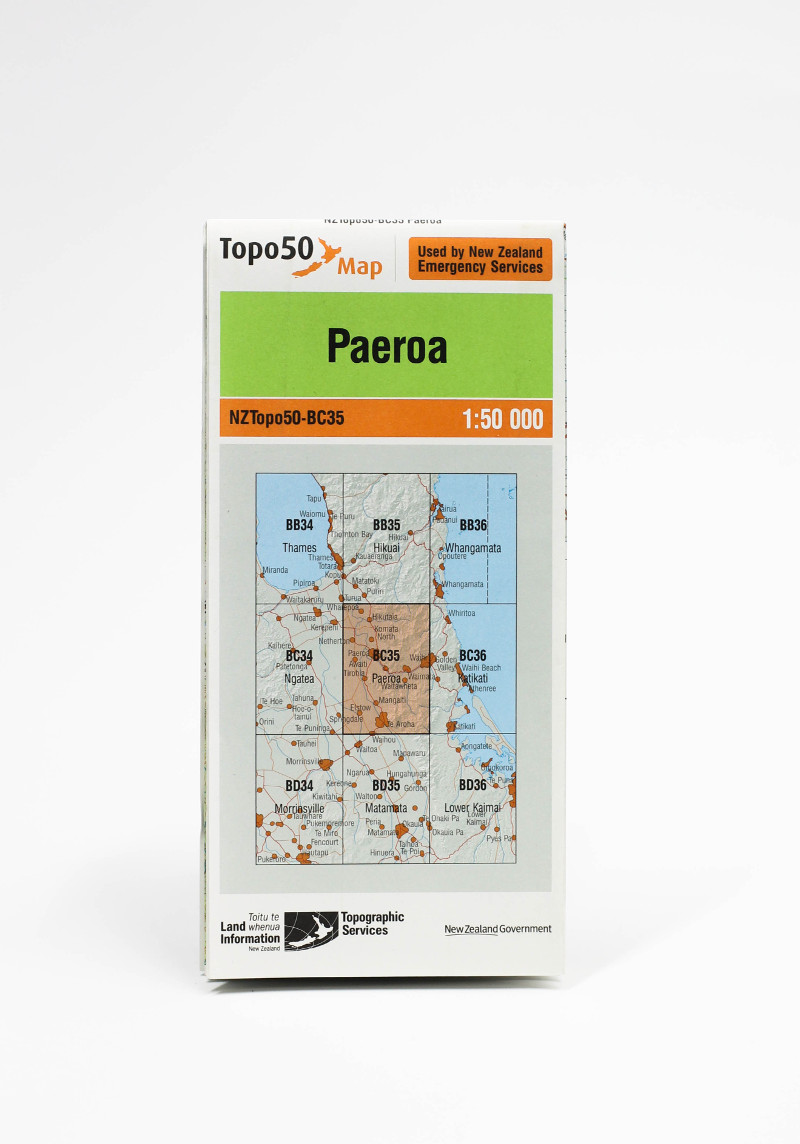Land information NZ Topo 50-BC35 Paeroa