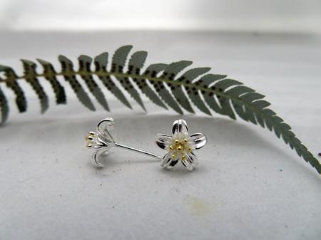 Wildside Earrings - Silver flower X31